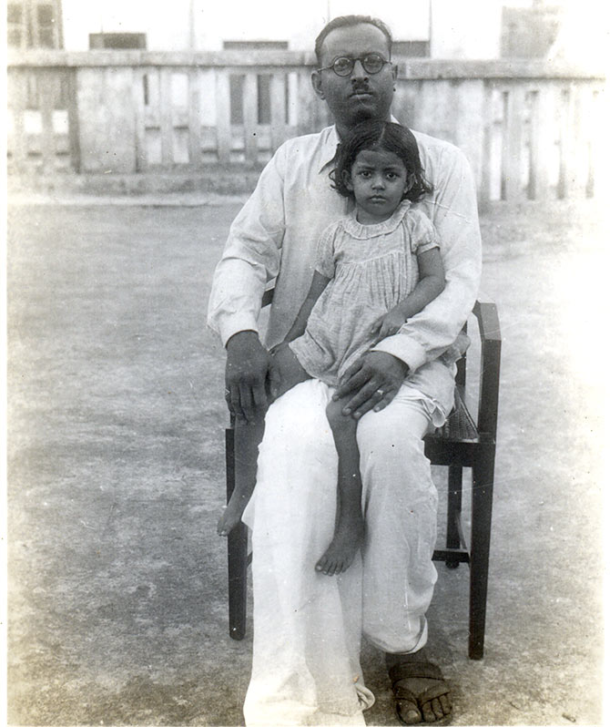 Bharati Dutt with her grand uncle