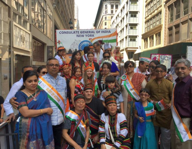 India News - Latest World & Political News - Current News Headlines in India - PHOTOS: Thousands celebrate at India Day Parade in New York
