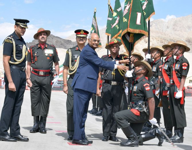 India News - Latest World & Political News - Current News Headlines in India - PHOTOS: President's Colours for Ladakh Scouts