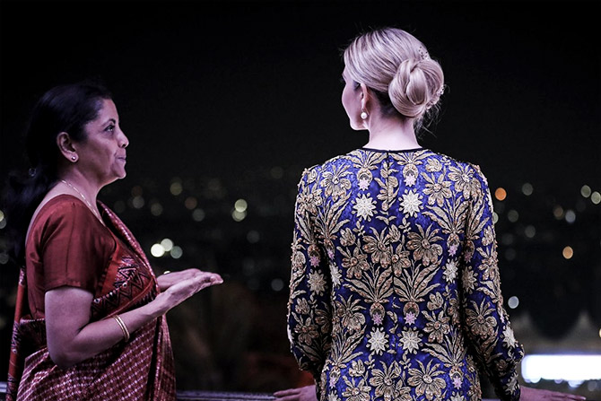 Ivanka Trump at the Faluknama Palace