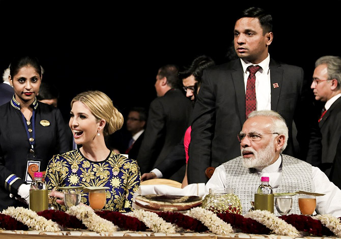Ivanka Trump and Modi