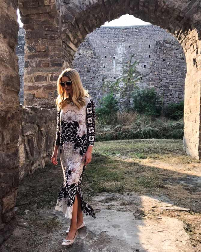 Ivanka Trump at Golconda Fort
