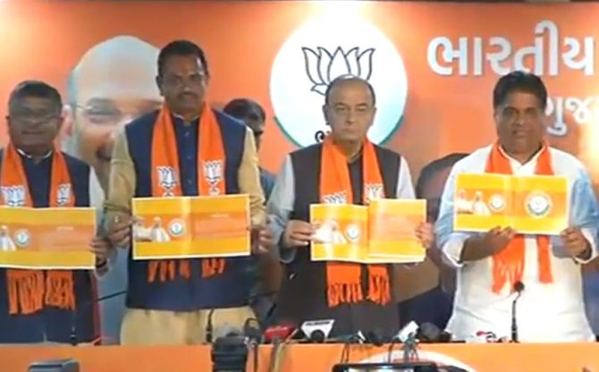 India News - Latest World & Political News - Current News Headlines in India - BJP releases Gujarat manifesto on the eve of voting