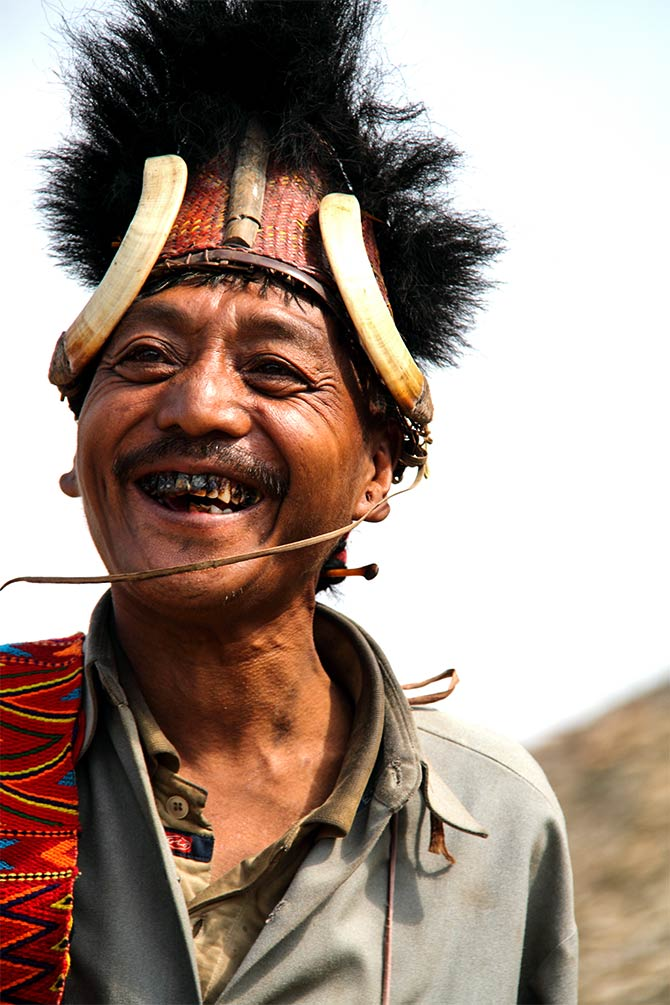 A warrior of the Konyak tribe