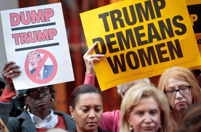 India News - Latest World & Political News - Current News Headlines in India - Women lawmakers seek probe into Trump's sexual misconduct allegations