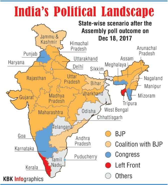 India Map 2017.The Lotus Blooms Across India Rediff Com India News