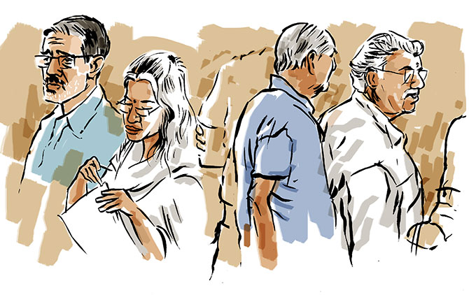 Indrani, Peter, Sanjeev: A morning at the Sheena Bora trial