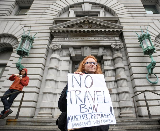Trump Administration States Clash In Court Over Reinstating Travel Ban