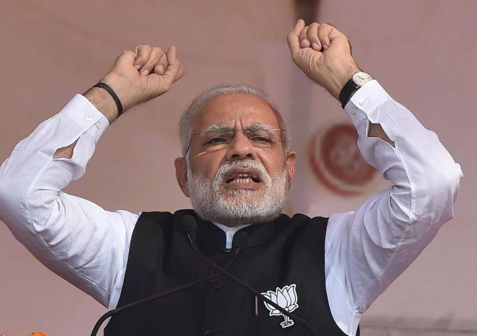 Saffron Holi will be celebrated in UP: Modi