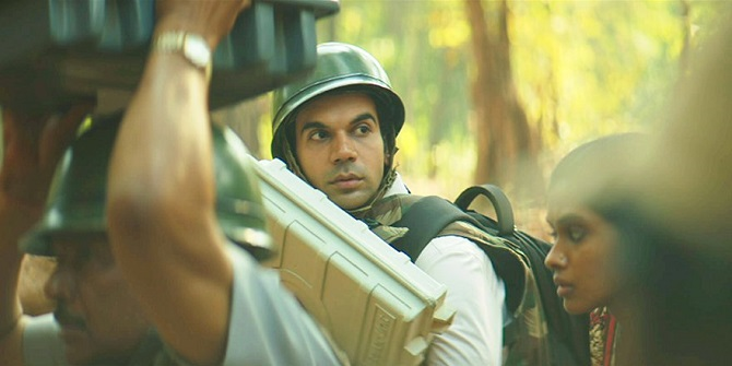 Rajkummar Rao and Anjali Patil in Amit Masurkar's Newton