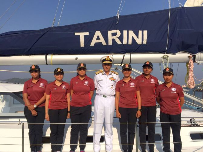 India News - Latest World & Political News - Current News Headlines in India - Indian Navy inducts all women crew sailboat 'Tarini'