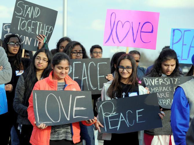 India News - Latest World & Political News - Current News Headlines in India - 'We love peace': Hundreds march in support of Indian killed in Kansas shooting