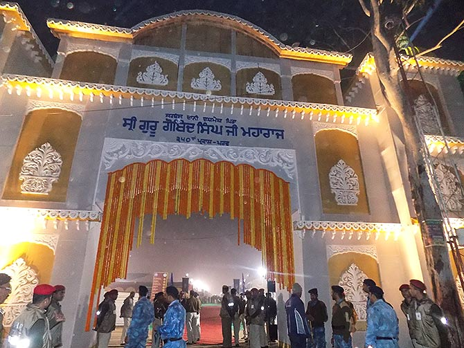 Tent city in Patna for the Prakash Utsav