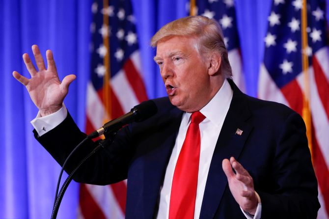 Rediff Sports - Cricket, Indian hockey, Tennis, Football, Chess, Golf - Should have left UCLA players in jail in China: Trump