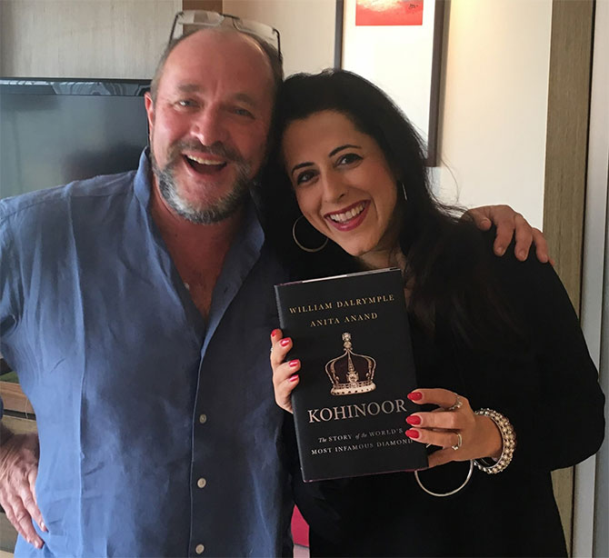 Authors William Dalrymple and Anita Anand of Kohinoor: The Story of the World's Most Infamous Diamond