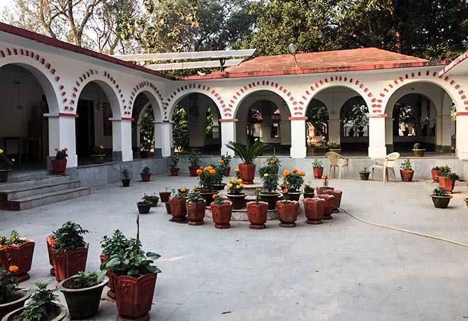 The ashram was started as a school