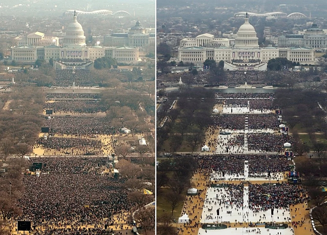 India News - Latest World & Political News - Current News Headlines in India - Trump's inauguration drew fewer crowd than Obama's