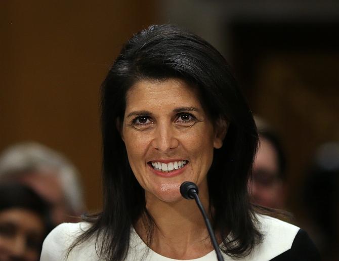 Nikki Haley confirmed as new US envoy to UN - Rediff.com India News