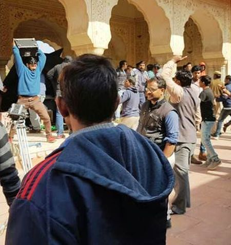The Rajput Karni Sena vandalises the sets of Sanjay Leela Bhansali's Padmavati in Jaipur