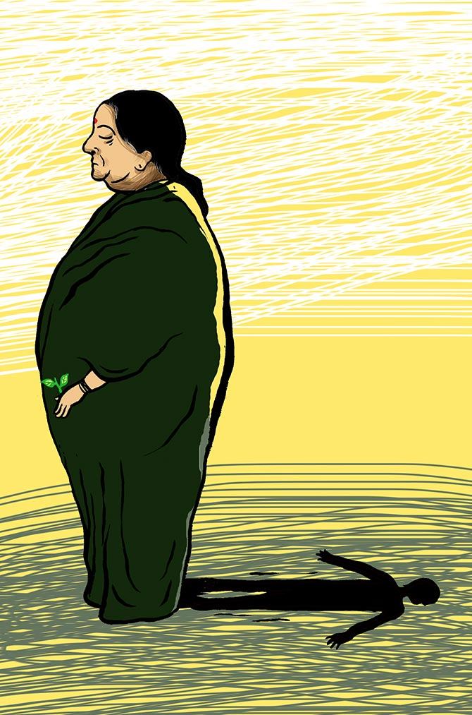 J Jayalalithaa illustration