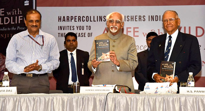 Ranjitsinh's book was launched by Vice President Hamid Ansari