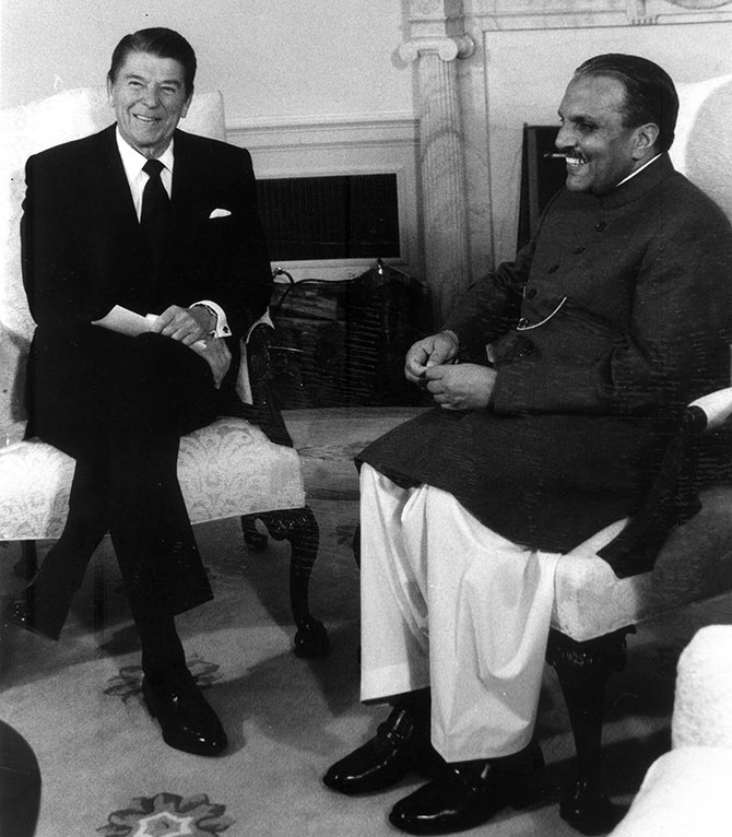 Ronald Reagan and Zia