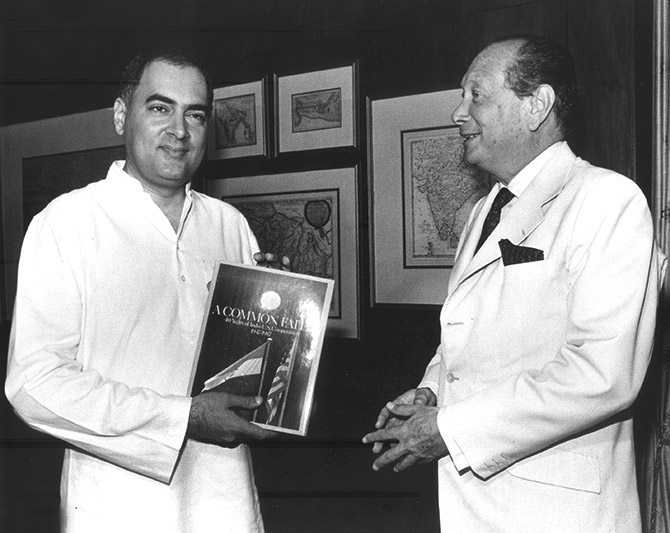Rajiv Gandhi with John Gunther Dean