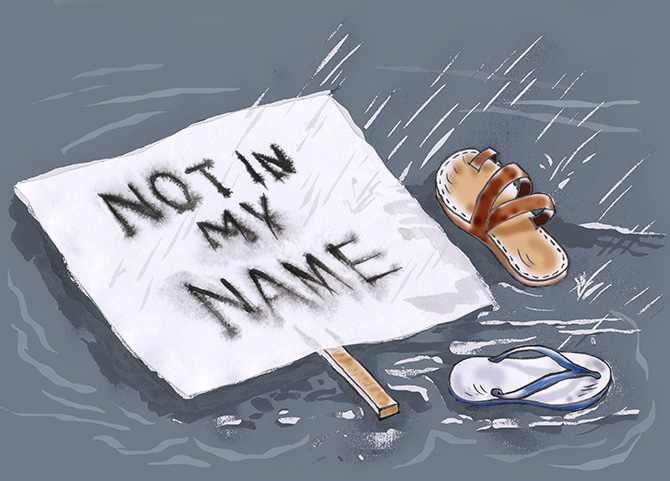 Not in my name illustration