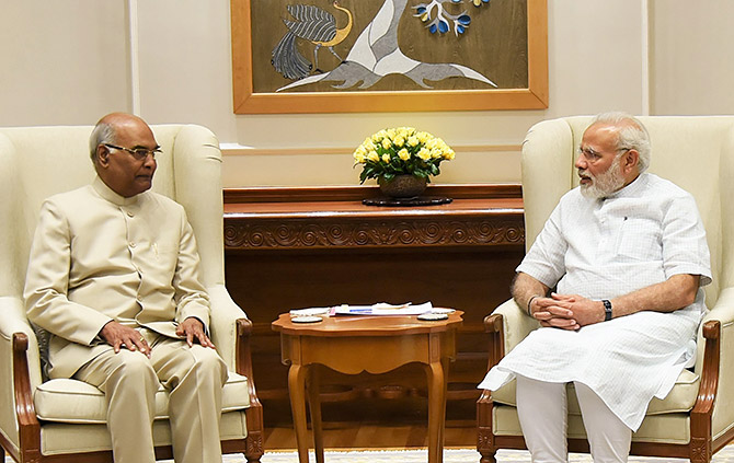 Ram Nath Kovind and Narendra Modi