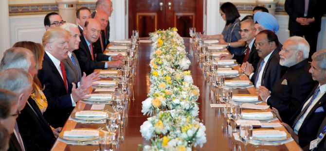 Official Dinner hosted by Trump for Indian delegation