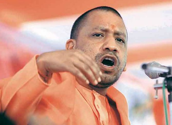Yogi Adityanath drives BJP Hindutva campaign in eastern UP