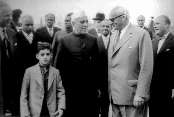 ACN Nambiar with Jawaharlal Nehru in Germany