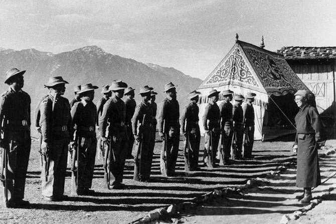 Tawang Guard of Honor for Dalai Lama