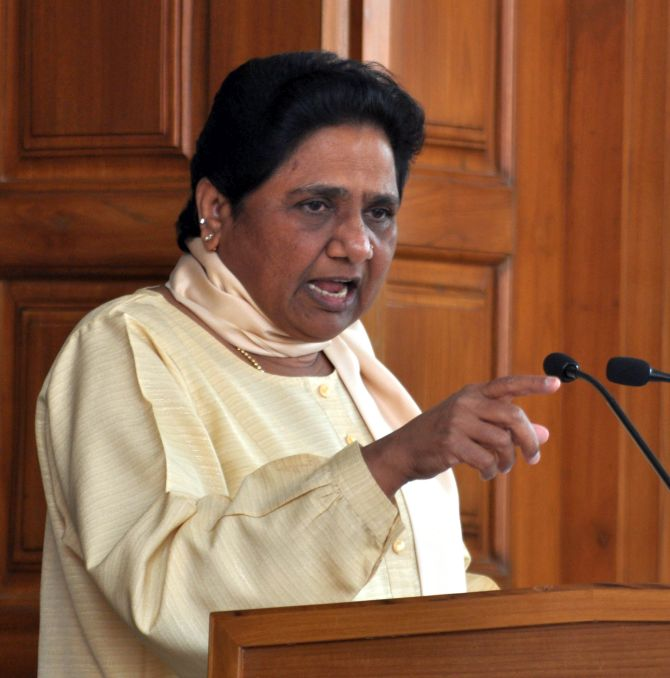 Mayawati blames BSP's loss on 'tampered EVMs', EC rejects it