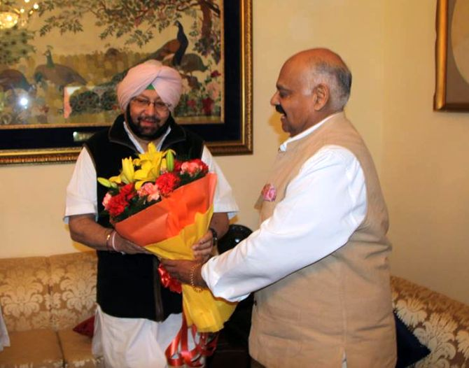 Amarinder to take oath as Punjab CM on March 16