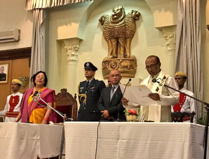 Biren Singh sworn-in as Manipur CM