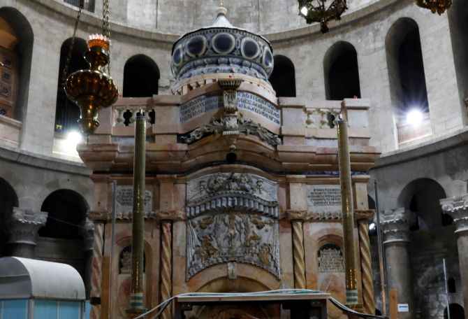 India News - Latest World & Political News - Current News Headlines in India - PHOTOS: Restoration of Jesus' tomb costs $3.3 million