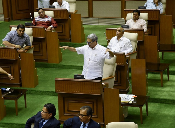 Parrikar in the Goa Assembly
