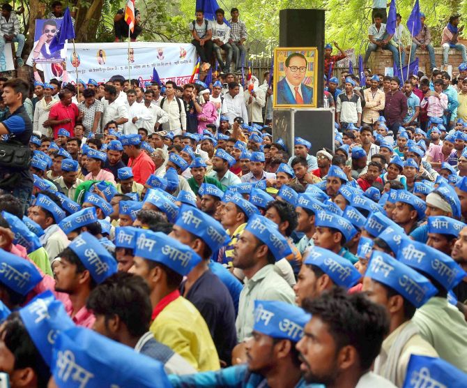 India News - Latest World & Political News - Current News Headlines in India - PHOTOS: Dalits protest Saharanpur violence at Jantar Mantar