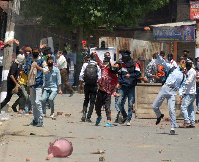 Kashmir boils over AGAIN after Bhat's encounter - Rediff com