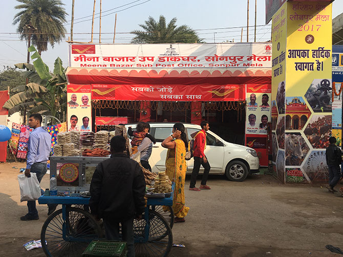 Temporary post office at the mela
