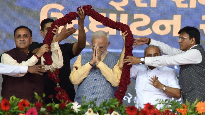 Denied permission for roadshow in Ahmedabad, Modi to take seaplane