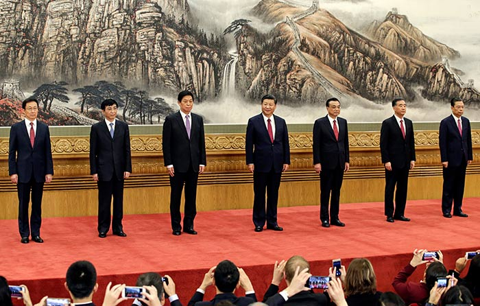 China's new Politburo Standing Committee