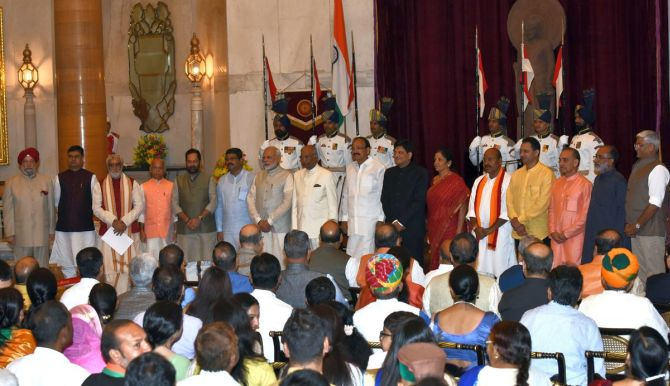 9 new ministers join modi government - rediff india news