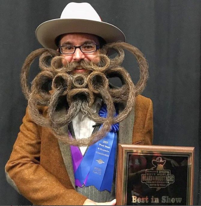 161742998210d Men face off at World Beard and Moustache Championship - Rediff.com India  News
