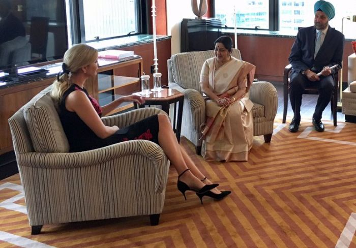 External Affairs Minister Sushma Swaraj met Ivanka Trump on the sidelines of the United Nations General Assembly in September where they discussed Ivanka's visit to India