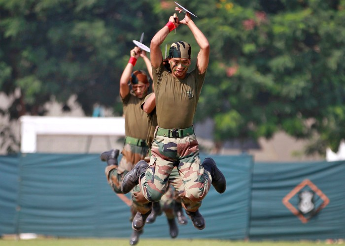 Indian Army soldiers in Ahmedabad