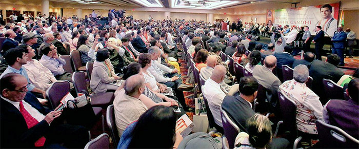 The audience at Rahul Gandhi's New York event