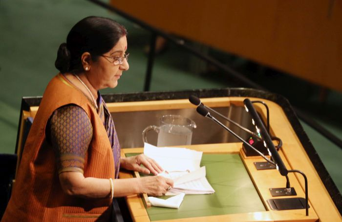 Image result for Pakistan 'world's greatest exporter of havoc, death and inhumanity', says Sushma at UN