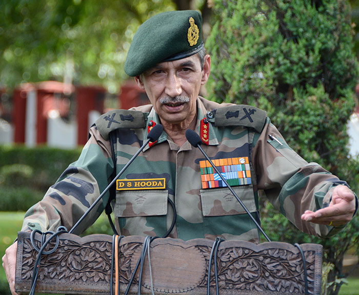 Former Northern Army Commander Lt Gen D S Hooda